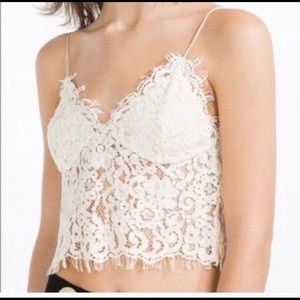 Zara lace cami crop